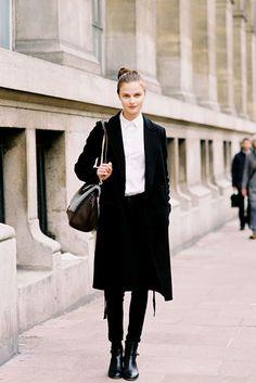 Vasilisa Pavlova, after Carven (she closed the show), Paris, March 2012.