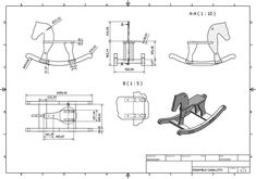 Draw Horses Picture of Assembly Drawings Horse - Build a Wooden Horse: as the first part of the project we have a render which build. Childrens Rocking Horse, Rocking Horse Plans, Wooden Decor, Wooden Diy, Diy Wood Projects, Wood Crafts, Horse Pattern, Wooden Horse, Kids Wood