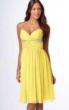Maggy London Chiffon Dress YELLOW SIZE 8 #197 NEW #MAGGYLONDON #Cocktail