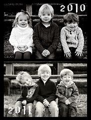 cousins, Im planning on recreating the same picture each year to watch how they change.