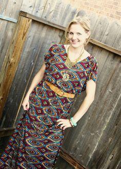 Easy to Sew Maxi Dress | DIY Kimono Style Dress - Where Home Starts