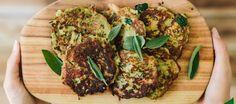 Fritters can be eaten for breakfast (really yummy served with avocado and fried eggs), they make a wonderful lunch box or work lunch addition and can even be eaten as a healthy snack or for a light dinner served with a fresh salad. Gf Recipes, Whole Food Recipes, Chicken Recipes, Dinner Recipes, Cooking Recipes, Healthy Recipes, Detox Recipes, Savory Snacks, Healthy Snacks