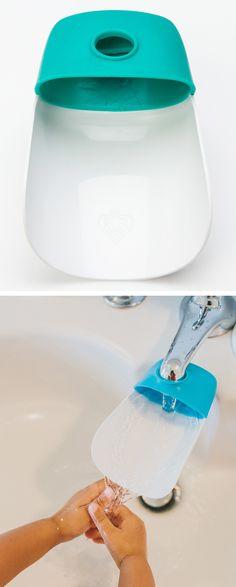 Faucet extender for little hands