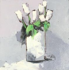 Andree Thobaty - Les Tulipes Blanches