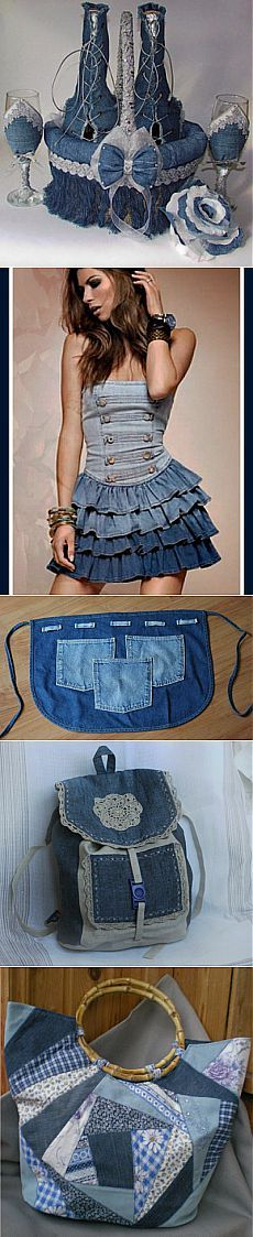 What can you make out of old jeans / Interesting decor ideas / PassionForum - master classes in needlework