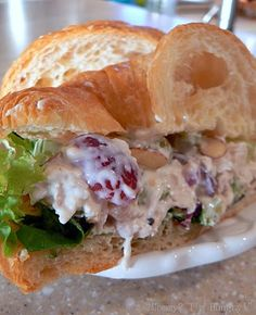 Mom's Chicken Salad with Grapes on Croissants