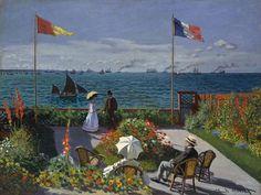 20 obras famosas de Claude Monet: Claude Monet: La terraza de Sainte-Adresse
