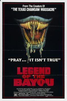 "Legend of the Bayou aka ""Eaten Alive"" Horror Movie Posters, Horror Films, Horror Art, Louisiana, Mundo Geek, Horror Monsters, Making A Movie, Fantasy Movies, Creature Feature"