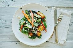 Sprouted Kitchen GLAZED BEET + CARROT SALAD #Healthy #Food #Blogs  www.AZFoothills.com