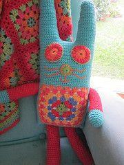 Blue Crochet bunny
