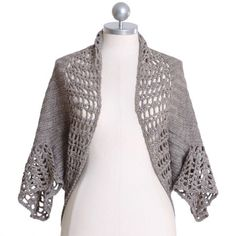 Ruche crochet shrug - like the lacier edging on sleevebands