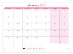 Calendario per stampare novembre 2017 - Generosa