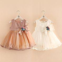 Детские сплошной цвет платье в 2018 году летнее платье новые девушки Дети дети лук жилет юбка КЗ-4056-Таобао