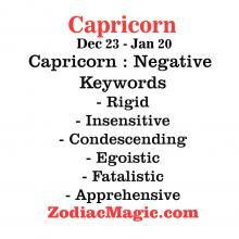 Capricorn - Negative Keywords