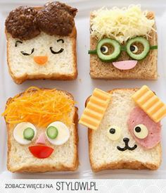 A whole lot of food art designs to make your kids smile, and hopefully eat their snacks. These incredible works of (food) art look too good to eat! Cute Food, Good Food, Yummy Food, Food Design, Food Decoration, Food Humor, Kid Friendly Meals, Creative Food, Creative Ideas
