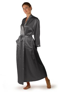 88e8235c65 TexereSilk Silk Robe Bathrobe for Women - Available in Natural White
