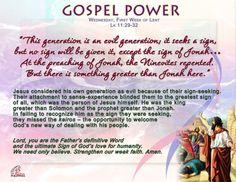 Gospel Power LENT 1C – Wednesday