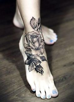 sexy-rose-tattoo-idea-in-black-and-gray-style