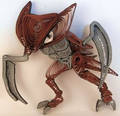 Paper Quilling Kabutops - 141 by wholedwarf