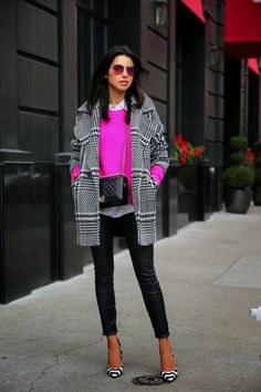 Trina Turk Menswear Wool Check Coat