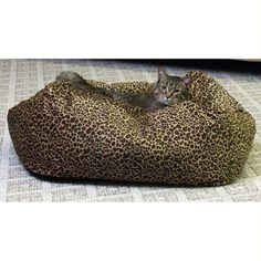 """K&h Pet Products Kitty Cuddle Cube Small Leopard 18"""" X 18"""" X 10"""""""