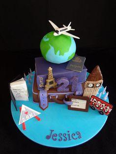 Europe Travel 21st Birthday Cake