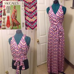 McCall's 7119 M7119 ...wrap dress...this dress is perfect for summer! I used view B bodice and view C skirt length.