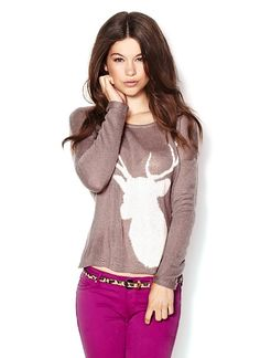 reindeer sweater from garage All About Fashion, New Fashion, Fashion Beauty, Fashion Outfits, Fall Fashion, Fashion Ideas, Garage Clothing, Reindeer Sweater, Cool Style