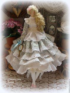 Купить Свет мой зеркальце скажи ))) интерьерная куколка Тильда - кукла ручной работы