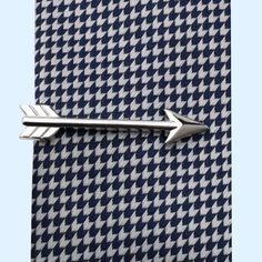 Bassin and Brown Tie Bar Collection -Silver Arrow Tie Bar
