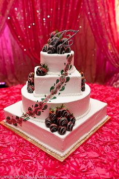wedding cake, chocolate covered strawberries, indian wedding, initial topper. Best Indian Food . visit with us enjoy indian food