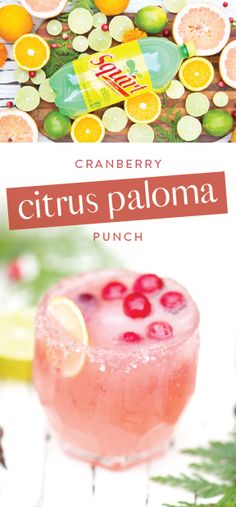 What do you get when you combine Squirt®, cranberry juice, grapefruit juice, orange juice, and tequila? The perfect holiday drink recipe—aka this Cranberry Citrus Paloma Punch! Garnish with seasonal fruit to turn this cocktail into a bubbly beverage worthy of any celebration—plus, the entertaining tips are a must. So, pick up all the ingredients you need to get ready for party guests at Safeway or Albertsons Companies! Must be 21 or older to consume alcohol. Please drink responsibly.