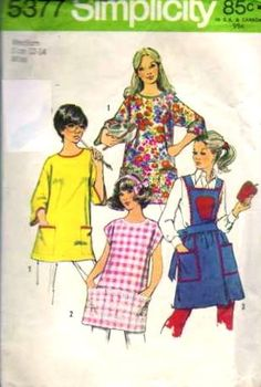 Simplicity 5377 1970s Misses Apron and Apple Pot Holder Pattern by patterngate.com