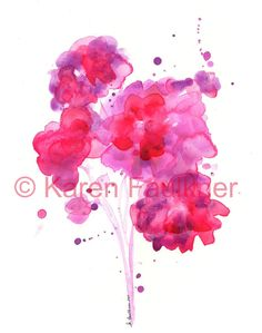 Hey, I found this really awesome Etsy listing at https://www.etsy.com/listing/80790197/watercolor-flowers-art-print-red-and