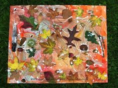 Paint and natural materials - Autumn-inspired art {from Sun Hats and Wellie Boots}