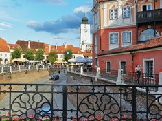 Sibiu (Hermannstadt), Transylvania: a city where Vald the Impaler, Dracula's model lived some time with his second wife...