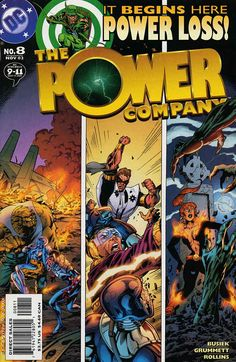 COMIC BOOKS FOR SALE!  Power Company, The Issue #8: Power Loss, Part 1; Shot in the Heart - Printing #1 November 2002 - $2.98 - Near Mint - 3-67151