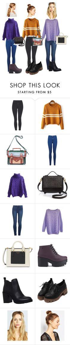 """#Kris_#fashion_#811"" by kristina-pisareva ❤ liked on Polyvore featuring Topshop, Miss Selfridge, Foley + Corinna, Paige Denim, Henri Bendel, Melissa, Miss KG, Boohoo, ASOS and women's clothing"