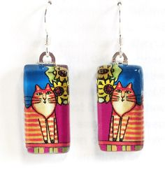 Orange Ginger Tabby Cat Earrings... by SusanFayePetProjects, $18.00