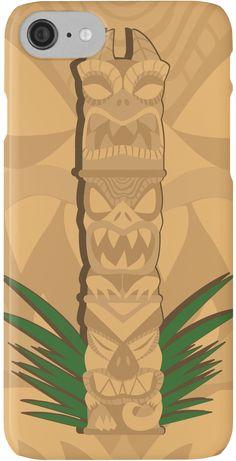 Three Tier Tiki Dinosaur Phone Case by thekohakudragon #tiki #dinosaur #hawaii #polynesian #totem