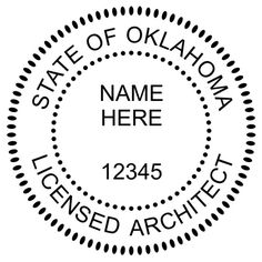 Utah Architects can order an embossing seal or inking stamp Each