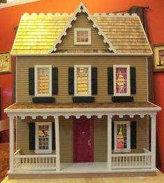 Furnished Vermont Farmhouse 3 Story 7 Room Dollhouse Free Shipping