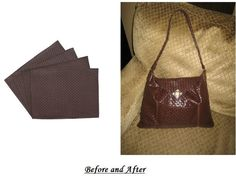 Beautiful purse made from 100% place mats. beauti purs, placemat purs, place mats