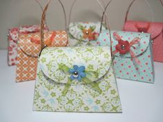 Six Floral Paper Purse Party Favors by thepaperpicasso on Etsy, $9.00