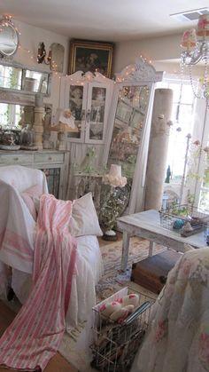 Beautiful English pink roses curtain panel by whitecottageinhills, $150.00
