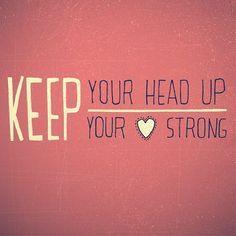 #Benhoward #keepyourheadup #heartstrong
