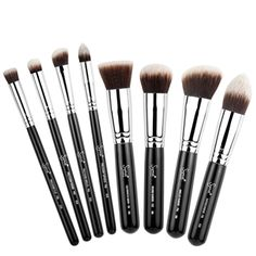 #summersigma  Love to have this for summer!   Brushes Included:     F80 - Flat Kabuki: Application of liquid or cream products to flat areas of the face such as the forehead and cheeks.  F82 - Round Kabuki: Blend mineral products onto the skin.  F84 - Angled Kabuki: Buff cream blush or bronzer onto the skin.  F86 - Tapered Kabuki: Apply cream and liquid foundations