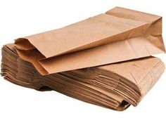Paper Bags Natural 11.5 x 21.5 pack of 100