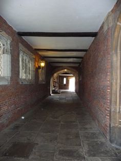 Hampton Court ~ I can just picture The Tudor court walking through here