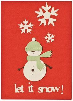 Let It Snow Snowman Card
